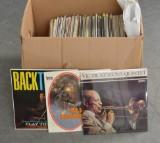 Parti vinylskivor, cirka 150 stycken