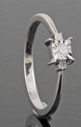Diamond ring in gold approx. 0.08ct