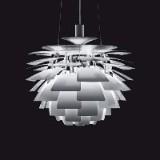 Poul Henningsen. Pendant lamp, 'Artichoke', with design ID number certificate, Ø 60 cm.