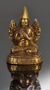 Tibetansk lama af forgyldt bronze, 1700 tallet