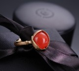 Ole Lynggaard. 'Lotus' ring, 18 kt. red gold with coral