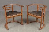 Eight wood chairs, likely Josef Hoffman (8)