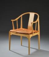 Hans J. Wegner. Armchair, China chair, model FH 4283, cherry wood