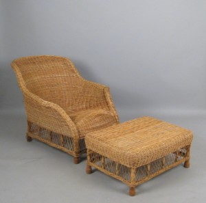 Gunther Lambert Lounge Sessel Ottomane In Rattan 2 Lauritz Com