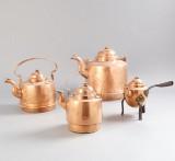 Kaffepannor i koppar
