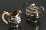 Russisk flødekande og sukkerskål af sølv, 1800-tallet (2)