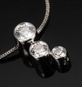 Georg Jensen. Cascade necklace, 18 kt. white gold, brilliant-cut diamonds