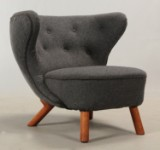 Attributed to Viggo Boesen. Variant of the lounge chair Lille Petra