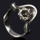 Solitaire ring ca. 1.30 ct.