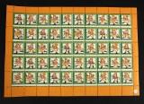 Frimærker samling julemærker i helark 1953-1997 (ca. 44)