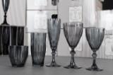 Lisbeth Dahl. Glasbesætning, 90 dele, serie Diamond, grå. (90)