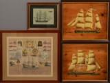 Partier med slaveskibe (træ) samt 2 tryk (4)