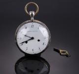 Frederik Jürgensen. Men's pocket watch, silver with repeat movement, c. 1815-25