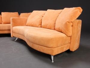 furniture rolf benz sofas with ottoman alcantara 3 dk roskilde store hedevej. Black Bedroom Furniture Sets. Home Design Ideas