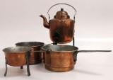 Parti koppar, 4 delar, 1800-tal (4)