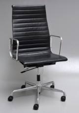 Charles Eames. Leather office chair, model EA-119