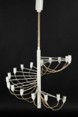 Gino Sarfatti for Arteluce, 'Brass Chandelier', a ceiling light, lamp, 1958, metal, plastic