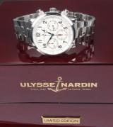 Ulysse Nardin 'Marine Chronograph'. Automatic men's chronograph, steel