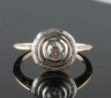 Ring, Art Deco, 18k gold with diamond, 0.50 ct. 1920/30s