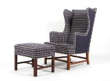 Kaare Klint. Wing chair with ottoman, model 6212 (2)