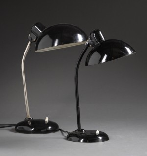 christian dell kaiser bordlampe model 6556 samt helo leuchten art deco bordlampe 2. Black Bedroom Furniture Sets. Home Design Ideas