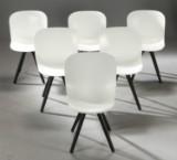 Verge spisebordsstol med olieret wengéfarvet ben i egetræ (6)
