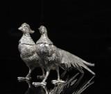 Bordsdekorationer, fåglar i vitmetall, 1900-talets första hälft / mitt (2)