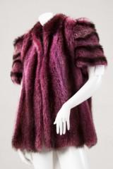 Jacke mit kurzem Arm, Waschbär, pinkfarben eingefärbt, Modell Balma, Gr. 34