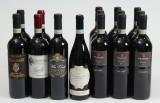 Samling italienske rødvine, Barolo, Brunello mm. (15)
