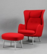Jamie Hayon for Fritz Hansen. Lounge chair and ottoman, model 'Ro' (2)