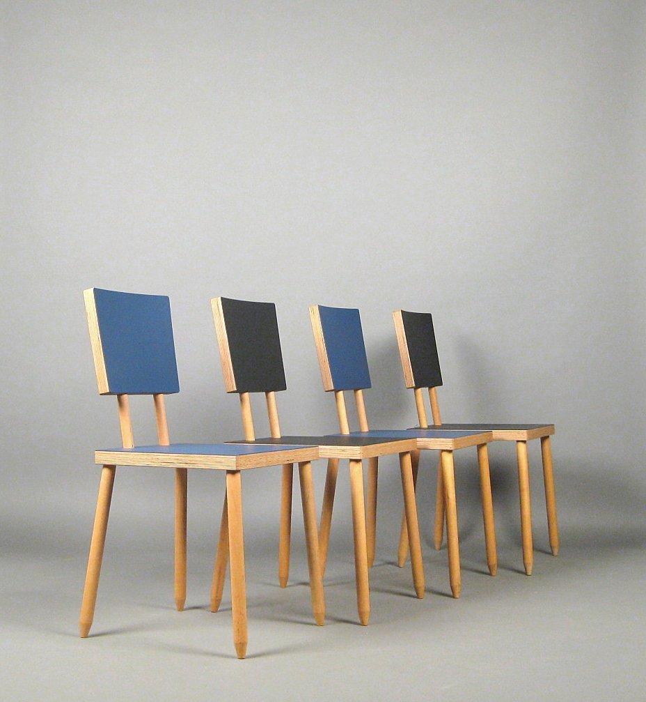 Auktionstipset - Axel Kufus, Set Schichtholz Stühle Modell Stöck für ...