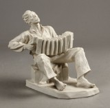 E. Kelling for Rosenthal, figur, bisquit