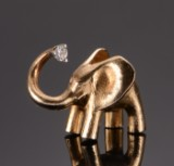 Stor elefantlås af guld, Ole Lynggaard