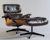 Charles & Ray Eames, chair, model Lounge Chair + ottoman for Herman Miller / Vitra