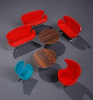... 1902-1971..Miniature møbler (7) - DK, Roskilde, Store Hedevej