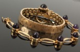 Bracelet and jewellery set, 14 kt gold, total weight 55.6 g (3)