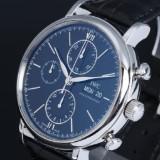 IWC 'Portofino Chronograph'. Men's watch, steel, with black dial, c. 2013
