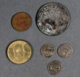 Div. mønter i æsker (2)