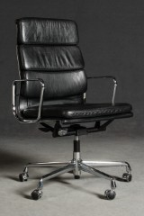 Charles & Ray Eames, a Softpad swivel chair with castors