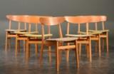 Farstrup m.fl. producenter, 7 stole af teak / bøg (7)