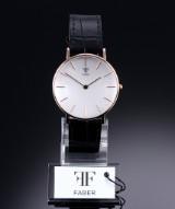 Faber armbåndsur af rosaforgyldt stål