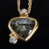 Josephine Bergsøe. 'Three Diamonds' necklace, approx. 1.82 ct.