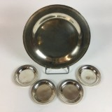 Silber Tablett und Untersetzer (5)