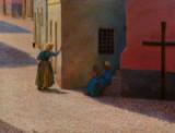 Kristian Zahrtmann. 'Gade i Civita d´Antino', oil on canvas