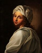 Painting after Guido Reni / Elisabetta Sirani. Portrait of Beatrice Cenci, oil on canvas