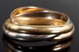 Cartier Trinity - three-part bracelet.