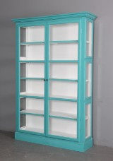 Display cabinet, turquoise paint