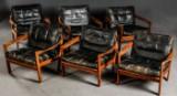 Organiske loungestole, dansk design af Illum Wikkelsø, fremstillet hos N. Eilersen (6)