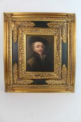 Ölgemälde im prunkvollen Rahmen, Portrait eines Mannes