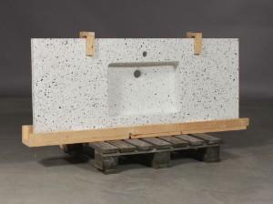 Flot Slutpris för Helstøbt bordplade, Håndvask 142 x HU-51
